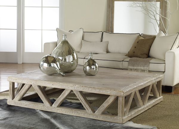 coastal living rooms - rectangular coffee table