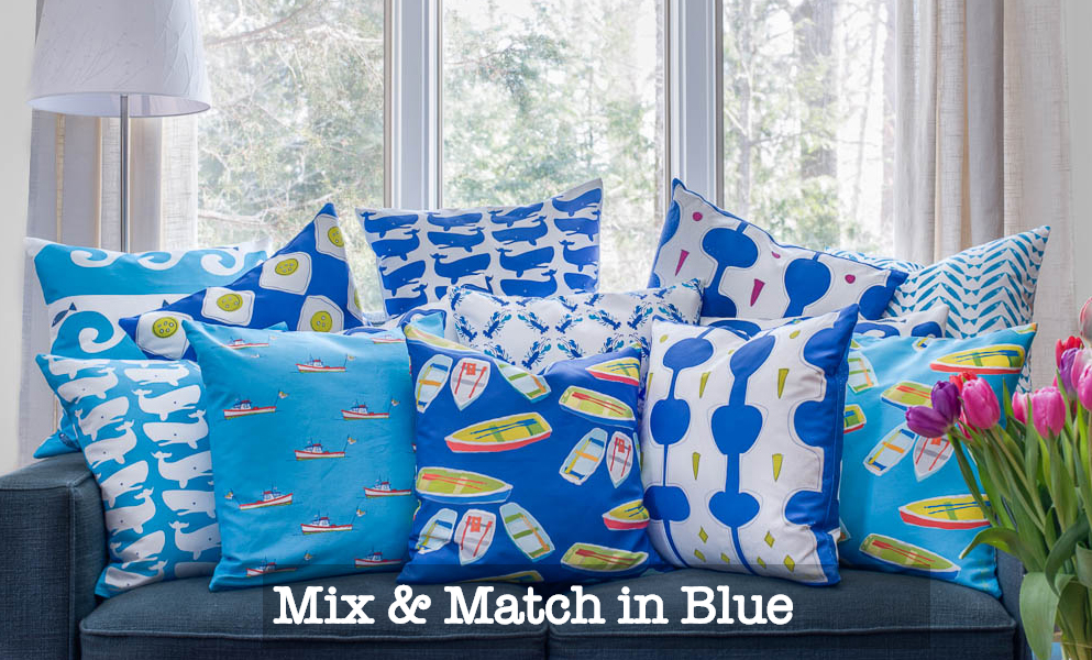 nautical decor ideas - whale accent pillows