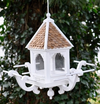 beach house garden - birdhouse