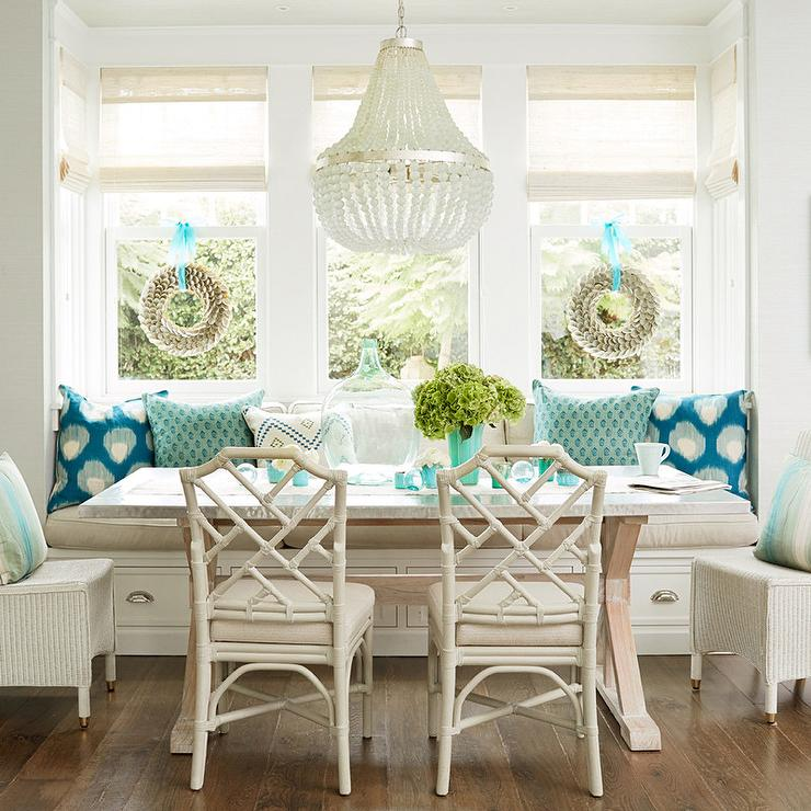 coastal cottage dining rooms - chandeliers