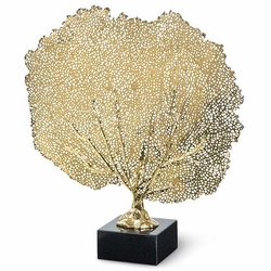 coastal luxury - brass sea fan accent
