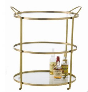 Connaught Bar Cart with Two Finish Options