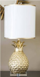 pineapple gold lamp