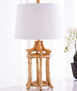 coastal luxury - golden bamboo lamp