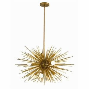 Zanadoo 12L Antique Brass Chandelier