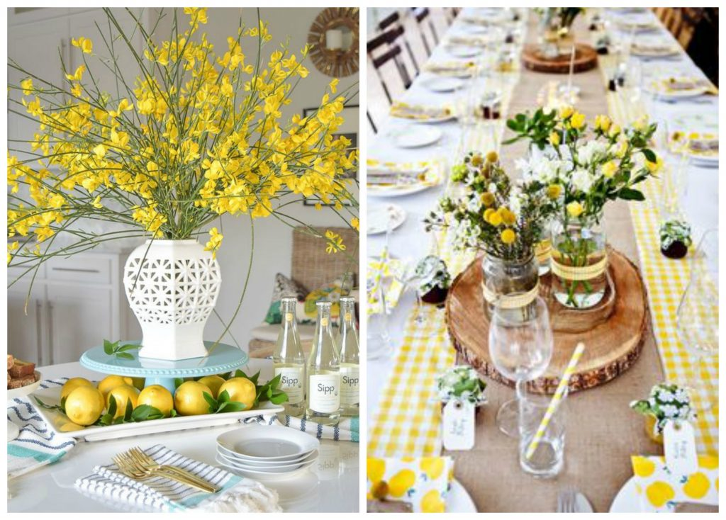 decorative tabletop accessories - yellow