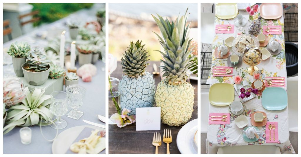 decorative tabletop accessories pastels