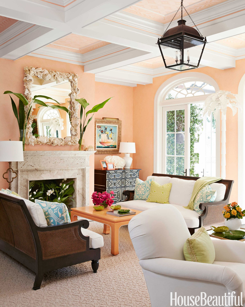 palm beach decor from House Beautiful