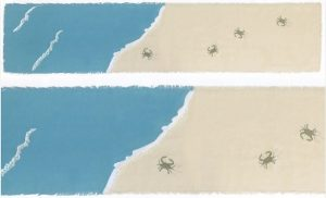 Embroidered Blue Crab Table Runner & 4 Placemats NEW