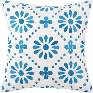 Flower Power Embroidered Pillow