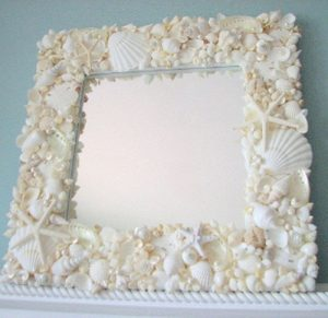 White Shell Treasures Mirror