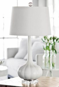 Milano Glass White/Snow Table Lamp