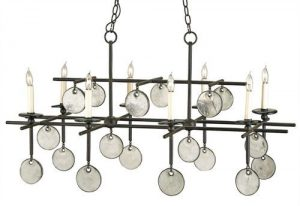 Rectangular Chandelier in Two Finishes