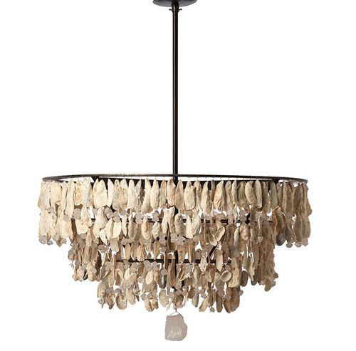 Three Tiered Chandelier With Shells