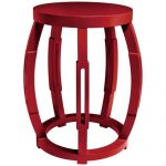 Taboret Red Side Table/Stool