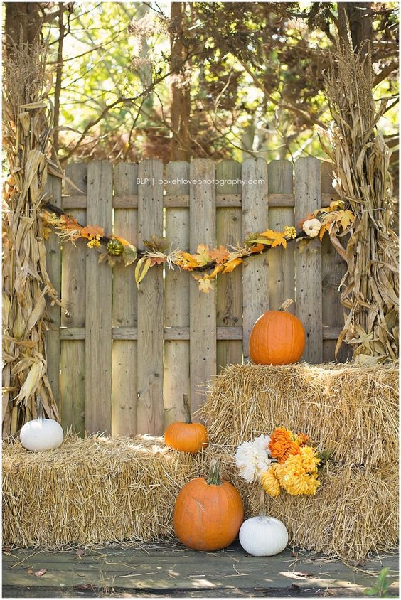 fall dinner party ideas - photo booth
