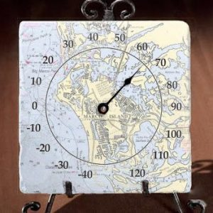 Marble Thermometer - Personalize with Beach Location