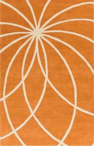 Forum Rug 100% Wool in Orange