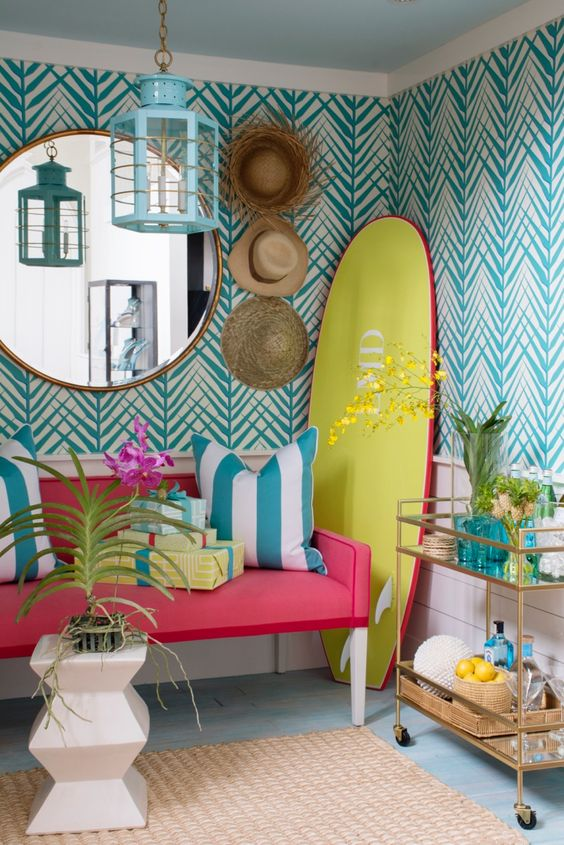 caribbean design style - bright colors