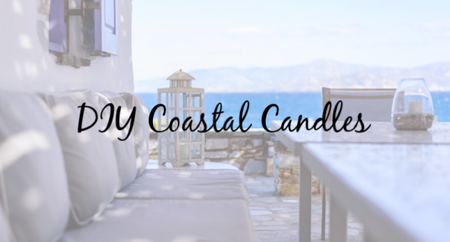 diy coastal candles