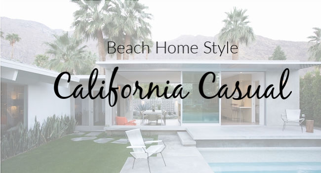 california casual beach home style
