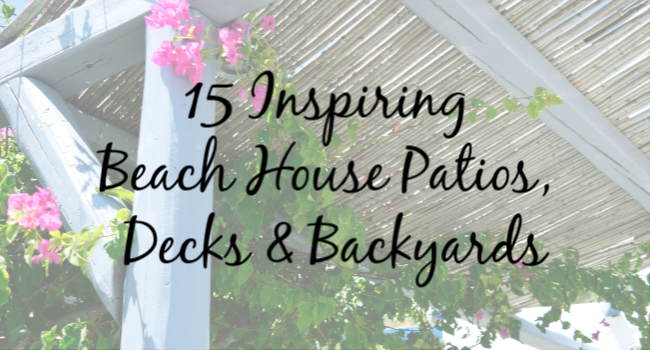 beach house patios