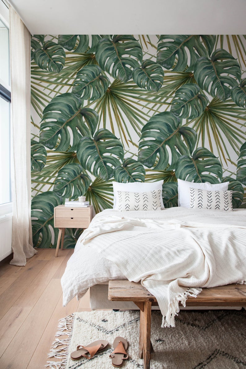 modern tropical interior design wallpaper