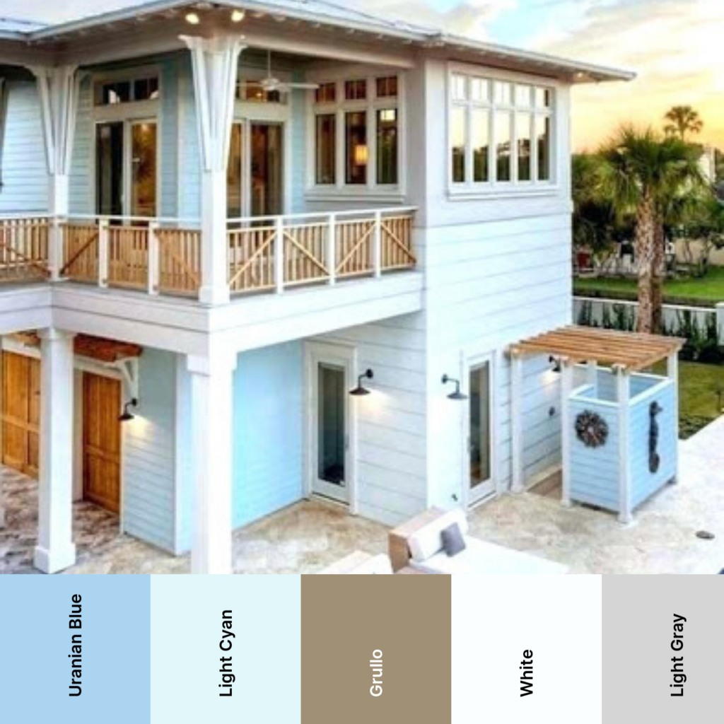 beach house color schemes